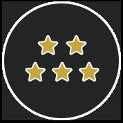 5 gold star icon