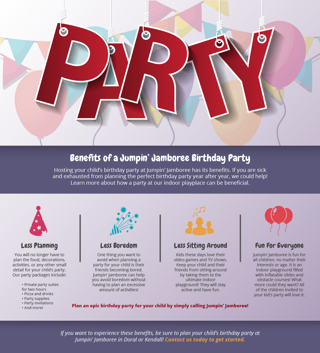 You Are All Our Kids No Matter What >> Kids Birthday Party Ideas Kendall Benefits Of A Jumpin Jamboree