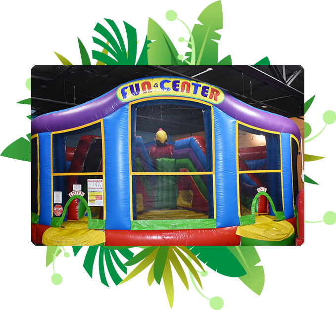 Picture of a inflatable playhouse