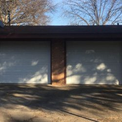 Double Garage Doors on Home