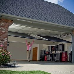 Double-Bay Garage Door Screen System, In Transition