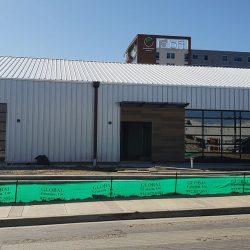 Large, Windowed Commercial Garage Door Bays