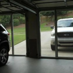Garage Door Screen System From Garage Interior