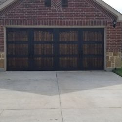 Carriage House-Style Wooden Garage Door