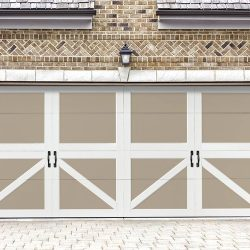 Tudor-Style Folding Garage Door