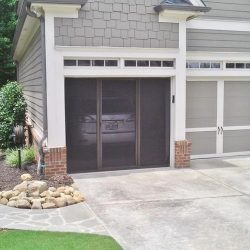Single-Bay Garage Door Screen