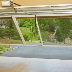 Double-Bay Garage Door Screen System, In Operation