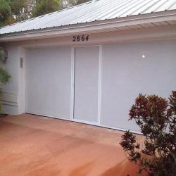 White Garage Door Screen System