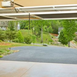 Double-Bay Garage Door Screen System, Raised