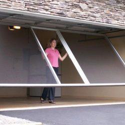 Raising Garage Door Screen System