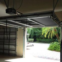 Garage Door Screen System Raised