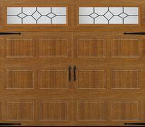 Oak Carriage House-Style Garage Door