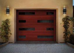 Modern Wooden Garage Door