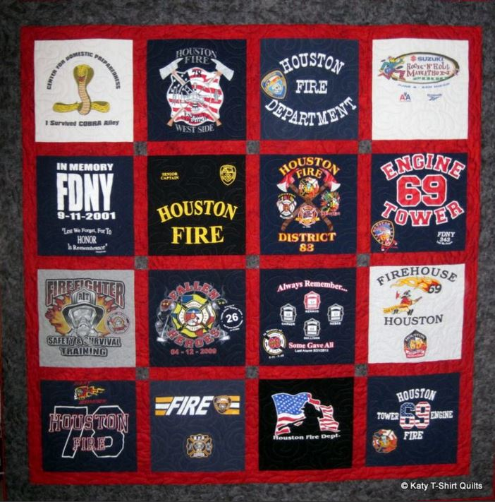 T Shirt Blankets Quilts From T Shirts Custom Quilt