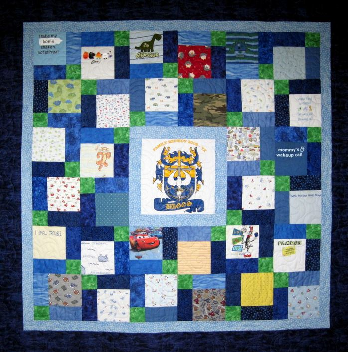 Custom Made Quilts From Baby Clothes