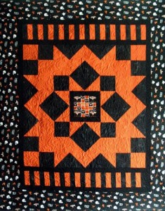 School T-Shirt Quilt - I made this quilt for my oldest granddaughter when she went to the University of Texas.