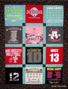 Sashed T-Shirt Quilt with Accent Cornerstones