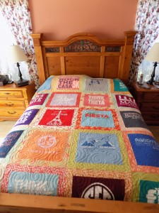 Scrappy Borders T-Shirt Quilt