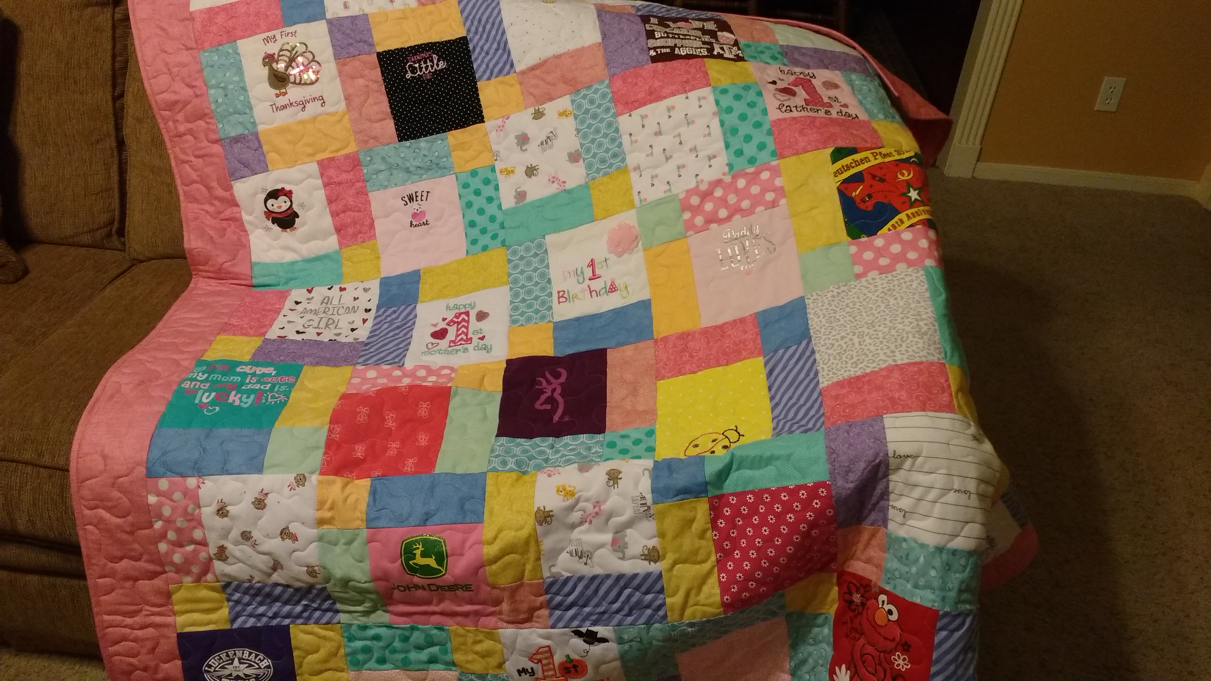 Quilts Made From Baby Clothes Katy T Shirt Quilts