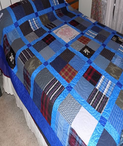 T-Shirt and Clothing Memory Quilt
