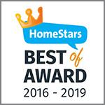 HomeStars Best of Award 2016 - 2019
