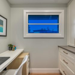 Home office space with cabinet drawers and window - Kay2 Contracting