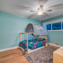 Updated kid's room with wood floors and windows - Kay2 Contracting