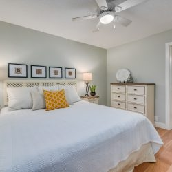 Master bedroom with entry to bathroom in a Glenwood home remodel - Kay2 Contracting