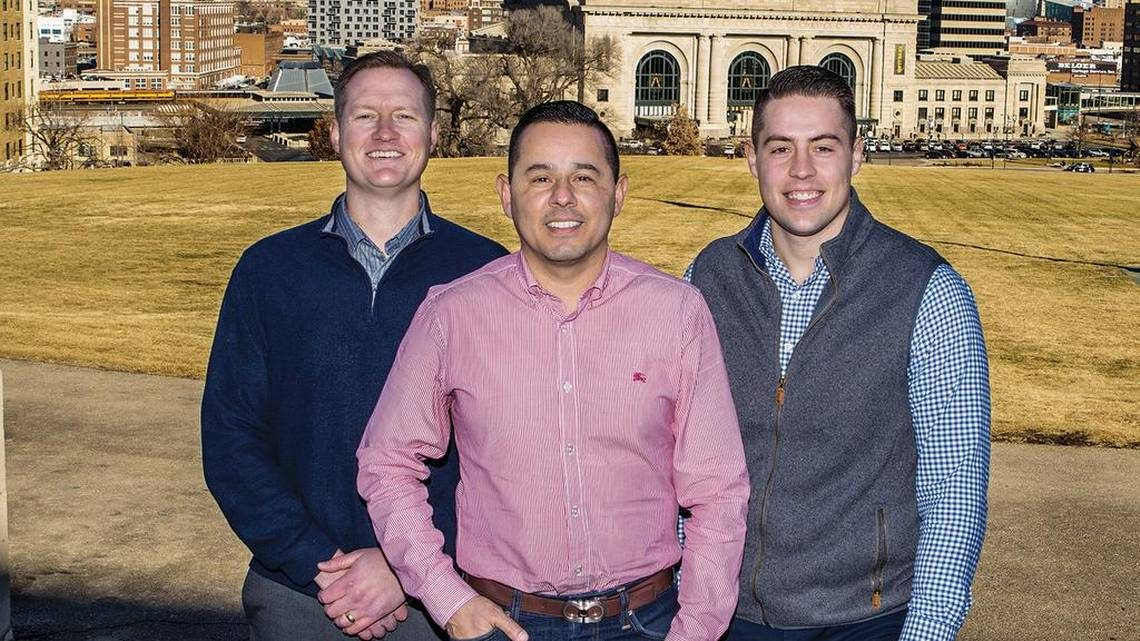 Andy Lightfoot, Nick Barela and Brooks Mosier of KC Property Group