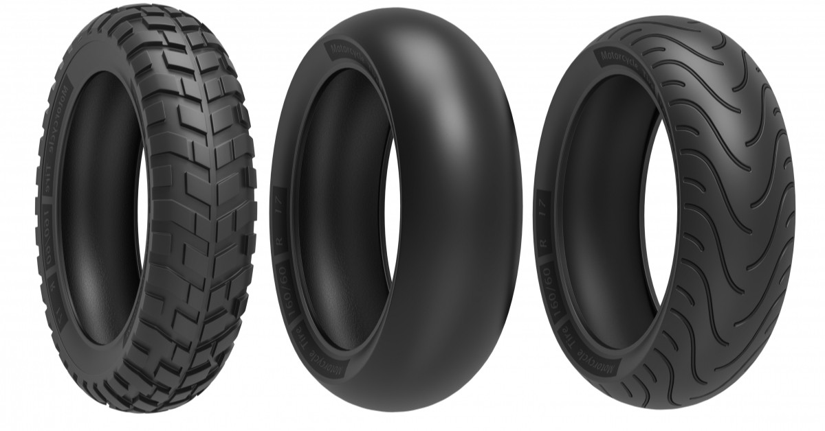 Image Of Various Tire Dimensions and Treads