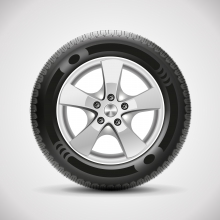 Image of a fully built rim and wheel
