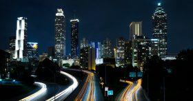 image of Atlanta skyline at night