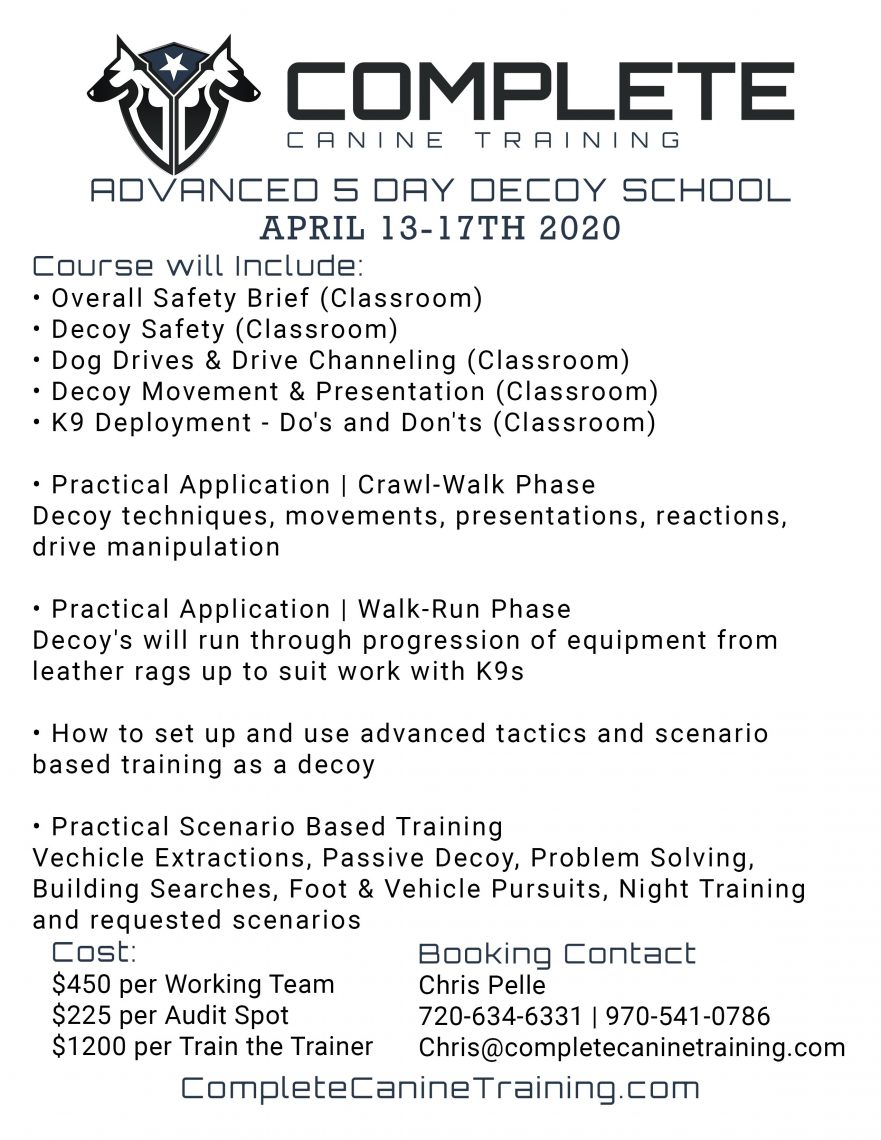 Decoy School Flyer