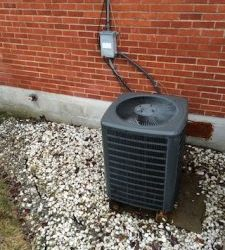 A photo of a unit installed by our heating and AC company in Batavia