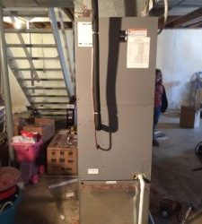 A photograph of work by our Heating and AC company in Batavia