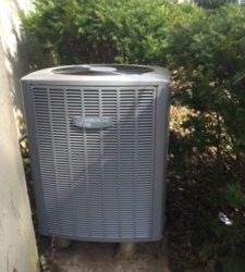 HVAC installation photo in a Batavia home