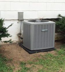 Completed installation by our heating and AC company in Batavia