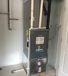 A completed job by our Batavia area HVAC company