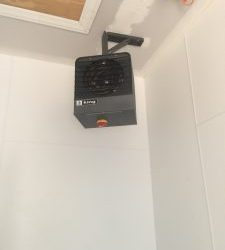 An installation of a unit by our Batavia HVAC company