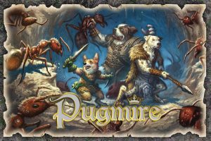 Pugmire Dog Warriors Fighting Giant Ants