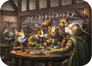 Pugmire Dogs Celebrating in a Tavern
