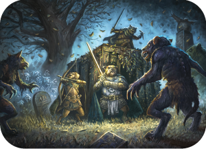 Pugmire Dog Warriors Fighting Zombie Rats