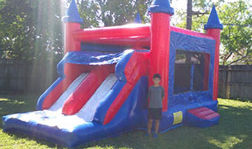 Blue & Red Bounce House