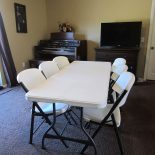 White Table & Chairs To Rent