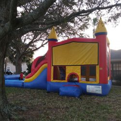 Bounce House With Water Slide