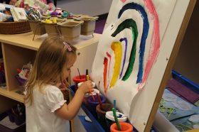 child drawing in preschool