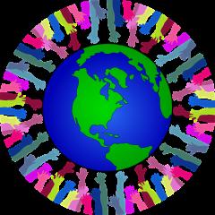 hands around a globe denoting courtesy