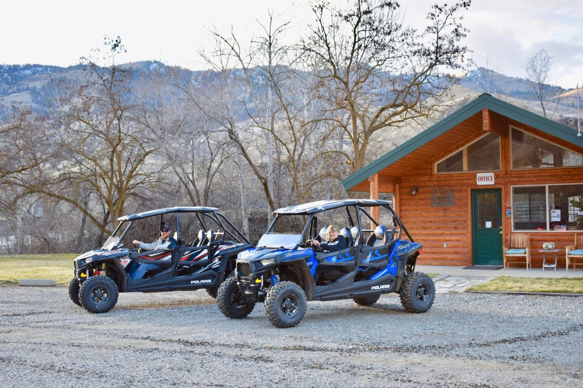 Guests enjoying ATVs