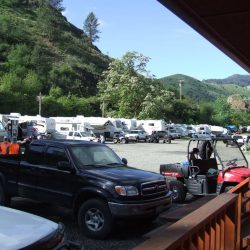 A large group of RVs in Idaho