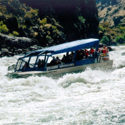 the jet boat in the rapids in Hells Canyon Idaho